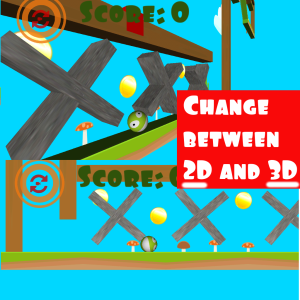 Change between 2d and 3d