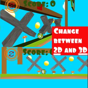 Change between 2d and 3d